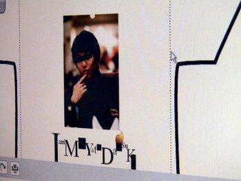 (写真:来場者の方が作られたC-シャツのデザイン その3 撮影:fumiさん)